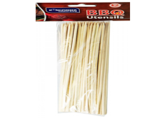 80 Pack of Wooden BBQ Skewers
